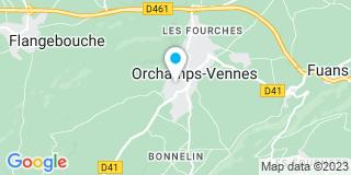 Plan Carte Bandenet Laurent à Orchamps-Vennes