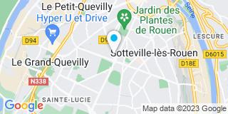 Plan Carte Corenov au Petit-Quevilly