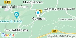 Plan Carte Sourdey Philippe à Gevresin