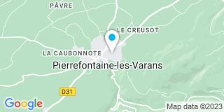 Plan Carte Pépinières et Paysages De Pierrefontaine à Pierrefontaine-les-Varans