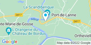 Plan Carte Miroiterie du Gave à Baigts-de-Béarn