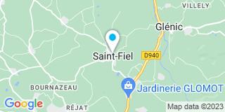 Plan Carte Jardinerie Glomot à Saint-Fiel