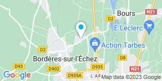 Plan Carte Center Menuiserie à Borderès-sur-l'Echez