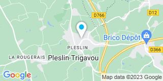 Plan Carte Hilzinger Dolmen à Pleslin Trigavou