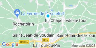 Plan Carte Cédric Menuiserie à La Tour-du-Pin