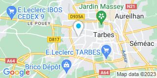 Plan Carte Vérandas et Menuiseries de Montgaillard (VMM) à Tarbes