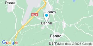 Plan Carte Labastère 65 à Lannes