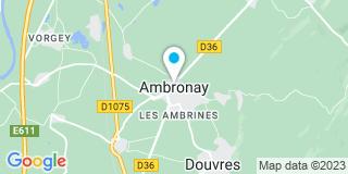 Plan Carte Les Charpentiers de l'Ain à Ambronay