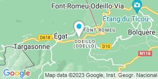 Plan Carte Will Jean-Pierre à Font-Romeu-Odeillo-Via