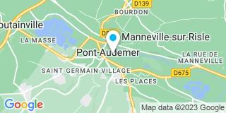 Plan Carte Vegetal Garden à Pont-Audemar