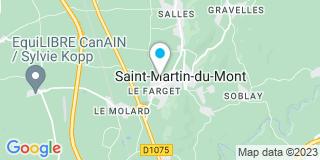 Plan Carte Charpente Mortier à Saint Martin Du Mont