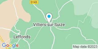 Plan Carte Vitrey façadees et bois à Villiers-sur-Suize