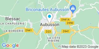 Plan Carte L'Herminette à Aubusson