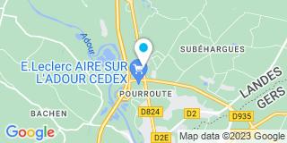 Plan Carte Point Vert à Aire-sur-l'Adour