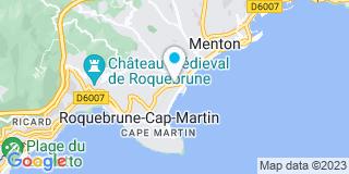Plan Carte Etablissements Ballestra à Roquebrune-Cap-Martin