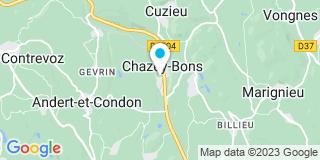 Plan Carte Berthet Damien à Chazey-Bons