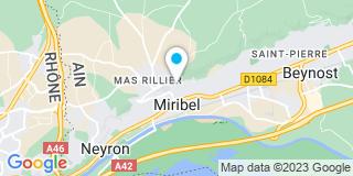 Plan Carte Cecillon-Bat à Miribel