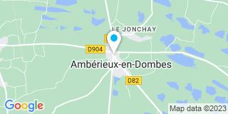 Plan Carte CMT Toitures à Ambérieux-en-Dombes