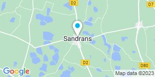 Plan Carte Merle Dombes Terrassement (MDT) à Sandrans