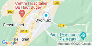 Plan Carte Oyozing à Oyonnax
