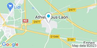 Plan Carte Hennecent à Athiès-sous-Laon