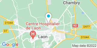Plan Carte Duchesne James à Laon