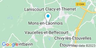 Plan Carte Entreprise Lelarge Philippe à Mons-en-Laonnois