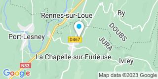 Plan Carte Menuiserie Charpente Faivre  à La Chapelle-sur-Furieuse
