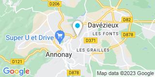 Plan Carte Delorme Battandier à Annonay