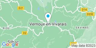 Plan Carte Pierrefeu à Vernoux en Vivarais