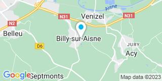 Plan Carte Damien Couverture à Billy-sur-Aisne