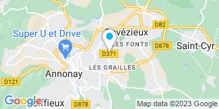 Plan Carte Annonay Ossature Charpente menuiserie ( AOCM) à Annonay