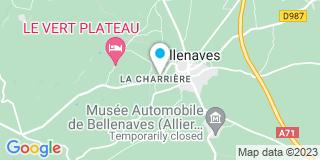 Plan Carte RNS Toitures à Bellenaves