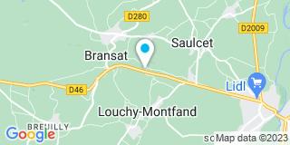Plan Carte ABCIS Menuiserie à Bransat