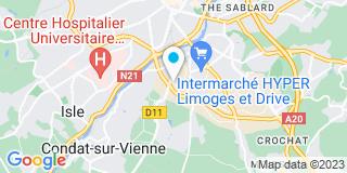 Plan Carte SARL Isoltec à Limoges