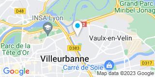 Plan Carte Confogaz (ResoConfort) à Villeurbanne