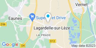 Plan Carte Mpep à Lagardelle-sur-Lèze