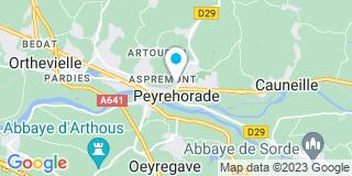 Plan Carte Puyau Menuiserie à Peyrehorade