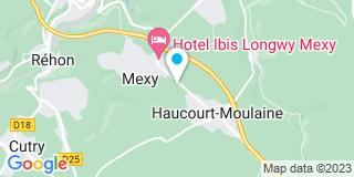 Plan Carte Bara menuiserie à Haucourt Moulaine