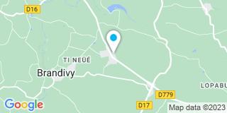 Plan Carte Le Boulaire menuiserie à Brandivy