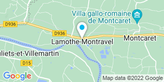 Plan Carte Le Toit du Perigord à Lamonthe-Montravel