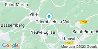 Plan Carte Vonderscher à Triembach-au-Val