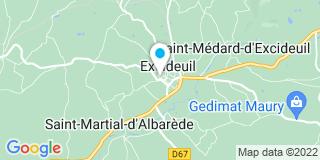 Plan Carte Roussely à Excideuil