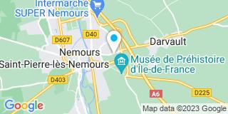 Plan Carte Compagnons Menuisiers et Techniciens du Bois (Cmtb) à Nemours