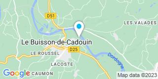 Plan Carte Asm Menuiseries à Le Buisson de Cadouin