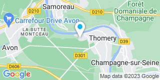 Plan Carte Martin Gérard (Seeg)  à Thomery