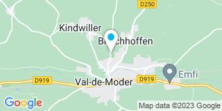Plan Carte Gerling à Bitschhoffen