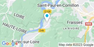 Plan Carte Établissements Beraud à Aurec-sur-Loire