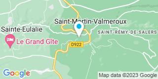 Plan Carte Palat-Joanny à Saint-Martin-Valmeroux