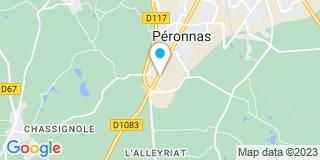 Plan Carte Menuiserie Guichardan à Péronnas
